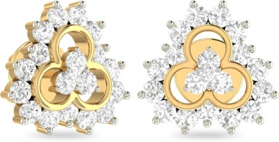 WearYourShine by PC Jewellers PC Jeweller The Jehane Yellow Gold 18kt Diamond Stud Earring at flipkart