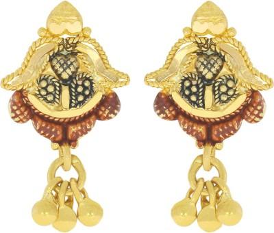 Kalyan Jewellers Calcutta Fancy Yellow Gold 22kt Stud Earring