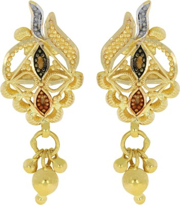Kalyan Jewellers Calcutta Hanging Yellow Gold 22kt Stud Earring