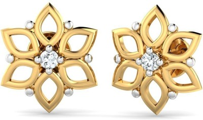 P.N.Gadgil Jewellers Solitaire Yellow Gold 18kt Diamond Stud Earring(Yellow Gold Plated) at flipkart