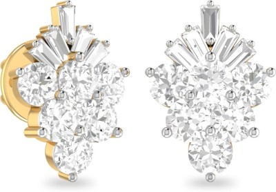 WearYourShine by PC Jewellers PC Jeweller The Evanee Yellow Gold 18kt Diamond Stud Earring at flipkart