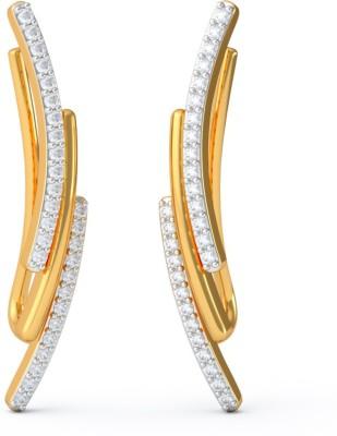 BlueStone Malvika Yellow Gold 18kt Diamond Stud Earring