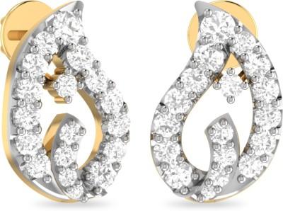 WearYourShine by PC Jewellers PC Jeweller The Moira Yellow Gold 18kt Diamond Stud Earring at flipkart