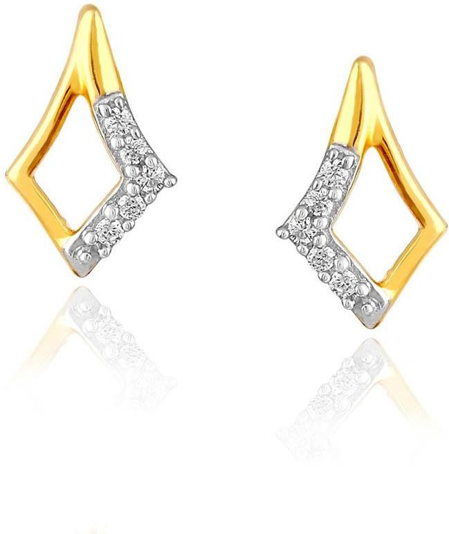 Deals - Kalol - Under Rs. 9,999 <br> Gold & Diamond Earrings<br> Category - jewellery<br> Business - Flipkart.com