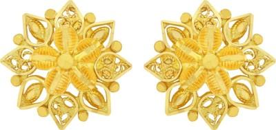 Kalyan Jewellers Calcutta Round Yellow Gold 22kt Stud Earring