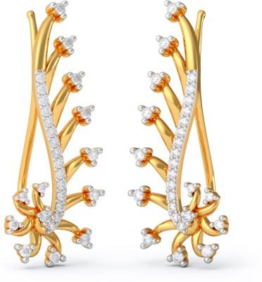 BlueStone Mishti Yellow Gold 18kt Diamond Stud Earring