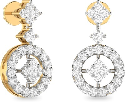 WearYourShine by PC Jewellers PC Jeweller The Patience Yellow Gold 18kt Diamond Stud Earring at flipkart
