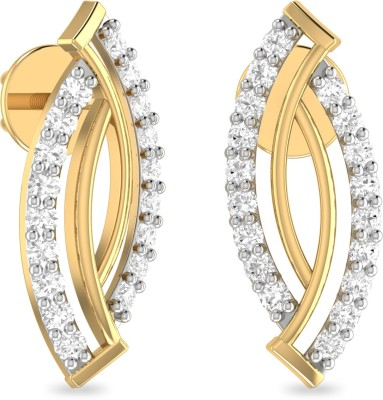 WearYourShine by PC Jewellers PC Jeweller The Betti Yellow Gold 18kt Diamond Stud Earring at flipkart