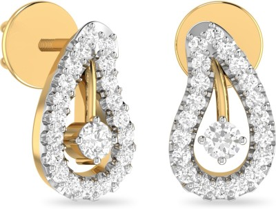 WearYourShine by PC Jewellers PC Jeweller The Marquisa Yellow Gold 18kt Diamond Stud Earring at flipkart