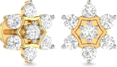 WearYourShine by PC Jewellers PC Jeweller The Talise Yellow Gold 18kt Diamond Stud Earring at flipkart