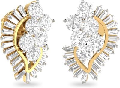WearYourShine by PC Jewellers PC Jeweller The Evalina Yellow Gold 18kt Diamond Stud Earring at flipkart