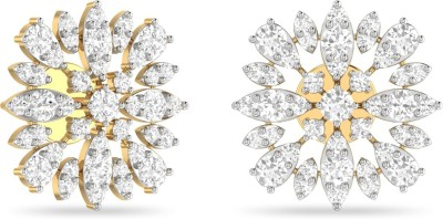 WearYourShine by PC Jewellers PC Jeweller The Tomasina Yellow Gold 18kt Diamond Stud Earring at flipkart