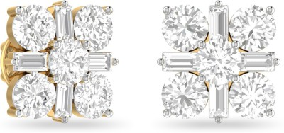 WearYourShine by PC Jewellers PC Jeweller The Evania Yellow Gold 18kt Diamond Stud Earring at flipkart