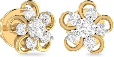 WearYourShine by PC Jewellers PC Jeweller The Morna Yellow Gold 18kt Diamond Stud Earring at flipkart