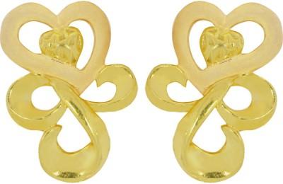 Kalyan Jewellers Moulding Fancy Yellow Gold 22kt Stud Earring