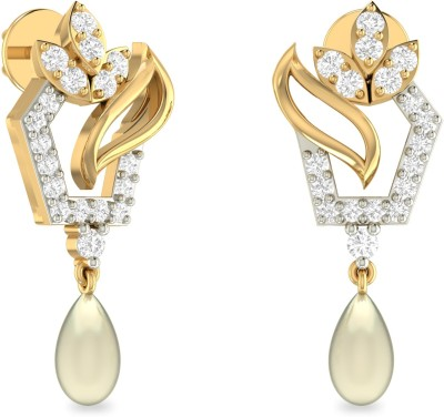 WearYourShine by PC Jewellers PC Jeweller The Ciara Yellow Gold 18kt Diamond Drop Earring at flipkart