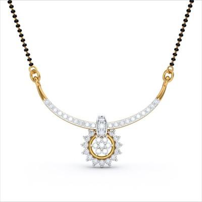 BlueStone Sandhiya 18kt Diamond Yellow Gold Mangalsutra Tanmaniya