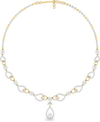 WearYourShine by PC Jewellers ONKPC00007DD-FX Princess Yellow Gold Precious Necklace(18kt Not Plated Plated) at flipkart