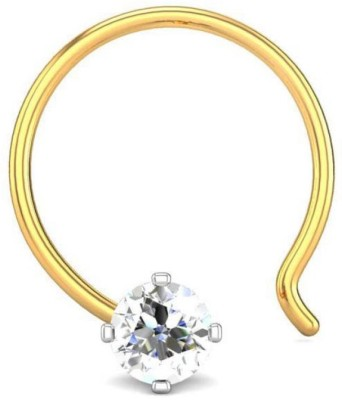 Candere 0.03ct Four Prong 18kt Diamond Yellow Gold Nose Wire available at Flipkart for Rs.3355