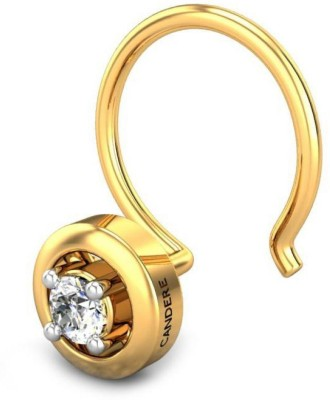 Candere 0.03ct Alissa 18kt Diamond Yellow Gold Nose Wire available at Flipkart for Rs.3580