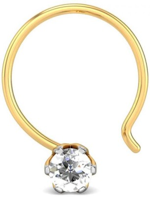 Candere 0.03ct Hita 18kt Diamond Yellow Gold Nose Wire available at Flipkart for Rs.3524