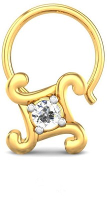 Candere 0.03ct Angelyn 18kt Diamond Yellow Gold Nose Wire available at Flipkart for Rs.4283
