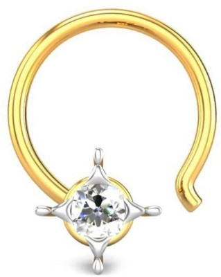 Candere 0.03ct Alvina 18kt Diamond Yellow Gold Nose Wire available at Flipkart for Rs.2785