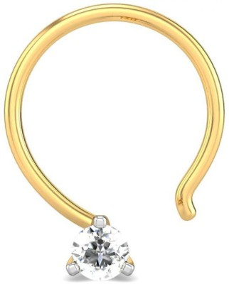 Candere 0.03ct Susana 18kt Diamond Yellow Gold Nose Wire available at Flipkart for Rs.3496