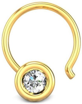 Candere 0.03ct Austina 18kt Diamond Yellow Gold Nose Wire available at Flipkart for Rs.3862