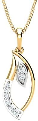P.N.Gadgil Jewellers Beautiful Leaf 18kt Diamond Yellow Gold Pendant(Yellow Gold Plated) at flipkart