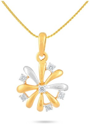 P.N.Gadgil Jewellers Glistening 18kt Diamond Yellow Gold Pendant(Yellow Gold Plated) at flipkart