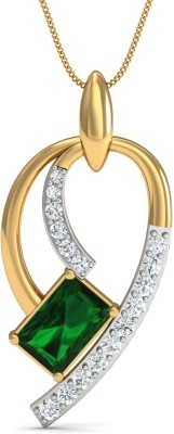 Damor Sanguine 18kt Diamond, Emerald Yellow Gold Pendant