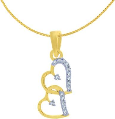 Kalyan Jewellers Valentine 18kt Diamond Yellow Gold Pendant