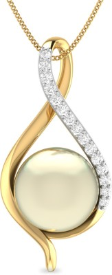 WearYourShine by PC Jewellers PC Jeweller The Abra 18kt Diamond Yellow Gold Pendant at flipkart