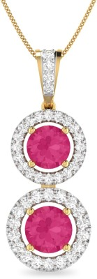WearYourShine by PC Jewellers PC Jeweller The Fauna 18kt Diamond, Ruby Yellow Gold Pendant at flipkart