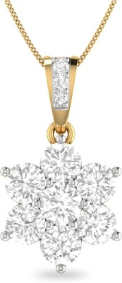 WearYourShine by PC Jewellers PC Jeweller The Janka 18kt Diamond Yellow Gold Pendant at flipkart