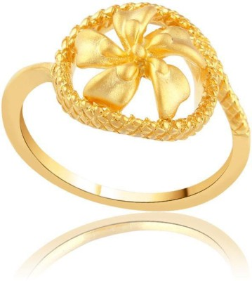 Maya Gold Designer 22kt Yellow Gold ring(Yellow Gold Plated) at flipkart