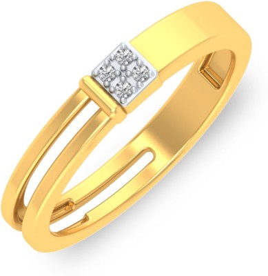 P.N.Gadgil Jewellers Flamboyant 18kt Diamond Yellow Gold ring(Yellow Gold Plated) at flipkart