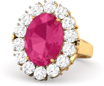 WearYourShine by PC Jewellers PC Jeweller The Galit 18kt Diamond, Ruby Yellow Gold ring at flipkart