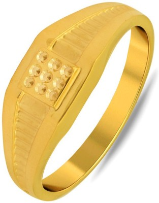 P.N.Gadgil Jewellers Stylish 22kt Yellow Gold ring(Yellow Gold Plated) at flipkart