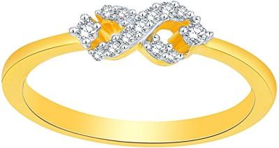 Asmi Designer 18kt Diamond Yellow Gold ring(Yellow Gold Plated) at flipkart