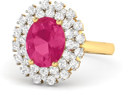 WearYourShine by PC Jewellers PC Jeweller The Falon 18kt Diamond, Ruby Yellow Gold ring at flipkart