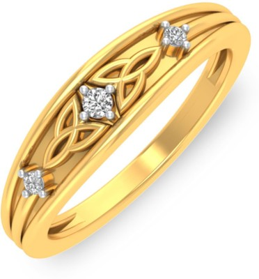 P.N.Gadgil Jewellers Sparkling Leaves 18kt Diamond Yellow Gold ring(Yellow Gold Plated) at flipkart