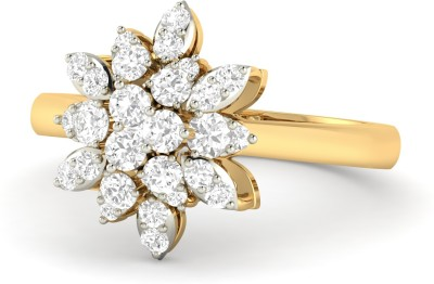 WearYourShine by PC Jewellers PC Jeweller The Elvie 18kt Diamond Yellow Gold ring at flipkart