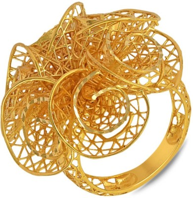 P.N.Gadgil Jewellers Flower Jharokha 22kt Yellow Gold ring(Yellow Gold Plated) at flipkart