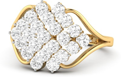 WearYourShine by PC Jewellers PC Jeweller The Moina 18kt Diamond Yellow Gold ring at flipkart