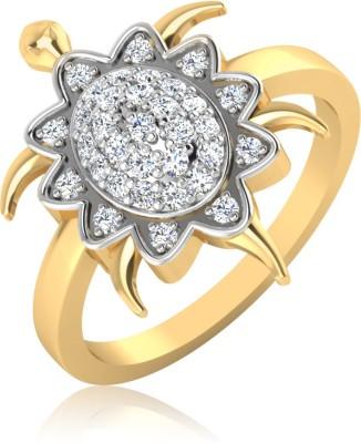 IskiUski The Turtle Charm 14kt Diamond Yellow Gold ring(Yellow Gold Plated) at flipkart