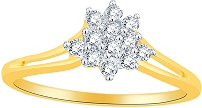 Nakshatra Designer 18kt Diamond Yellow Gold ring(Yellow Gold Plated) at flipkart