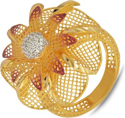 P.N.Gadgil Jewellers Floral Passion Jharokha 22kt Yellow Gold ring(Yellow Gold Plated) at flipkart