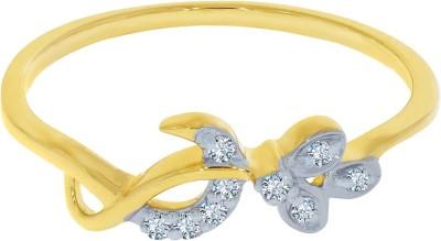 Kalyan Jewellers Light Weight 18kt Diamond Yellow Gold ring